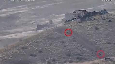 Azerbaijani servicemen flee in panic